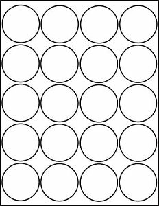 graphic relating to Printable Round Labels called Information relating to 500 Printable Laser Shiny White Spherical Stickers 2 inch Labels 25 Sheets 4220GW