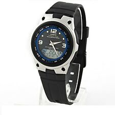 Casio AW82-1A Mens Fishing Gear Moon Data Watch BLACK 50M 10-Year Battery New