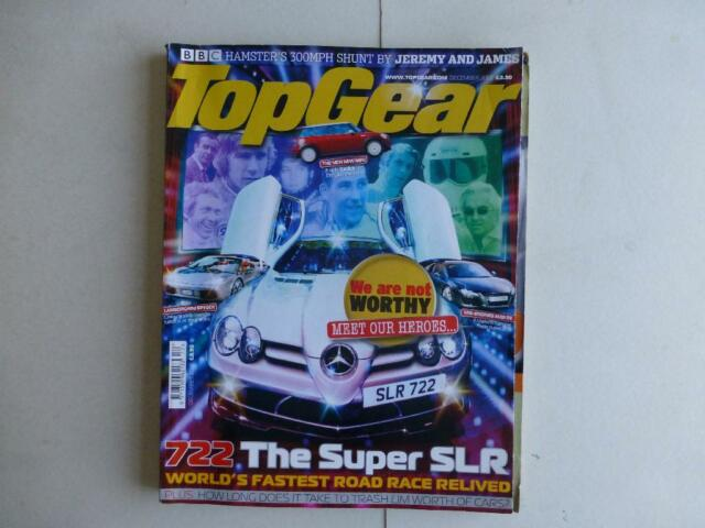 Top Gear Magazine #159 December  2006 Mercedes SLR 722 Audi R8 Lambo Spyder