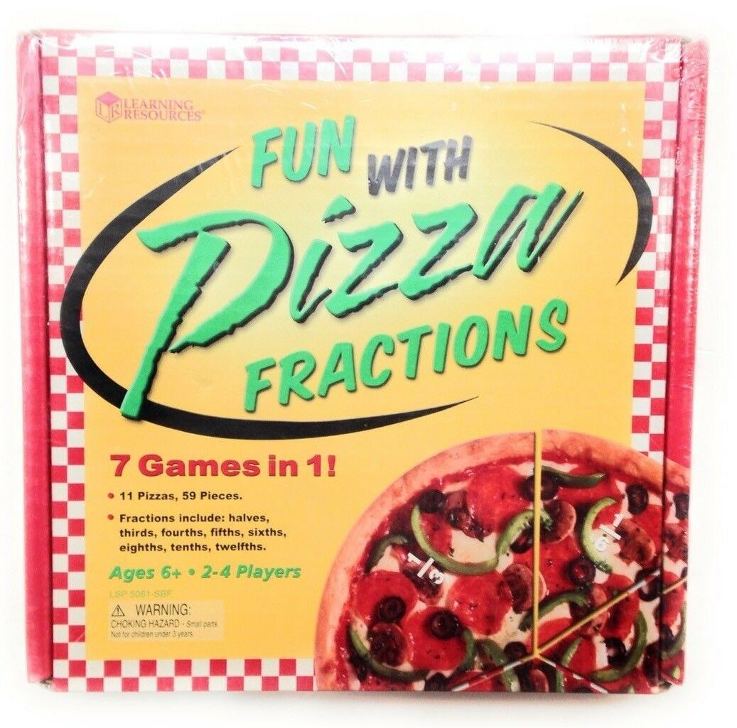 Learning Resources FUN WITH PIZZA FRACTIONS 7 Games in 1 Math Ages 6+ Homeschool