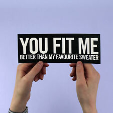 """Lana Del Rey sticker! """"You fit me better than my favorite sweater"""" Blue Jeans,"""