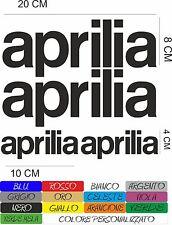 4 ADESIVI APRILIA 20X8 - 10X4 CM  MOTO STICKERS INTAGLIATO IN VARI COLORI COD34