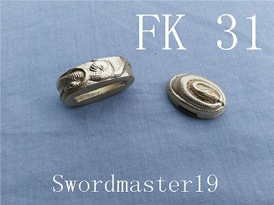 Snake fuchi kashira Top Grade Polished Brass - Japanese Katana Wakizashi Tanto