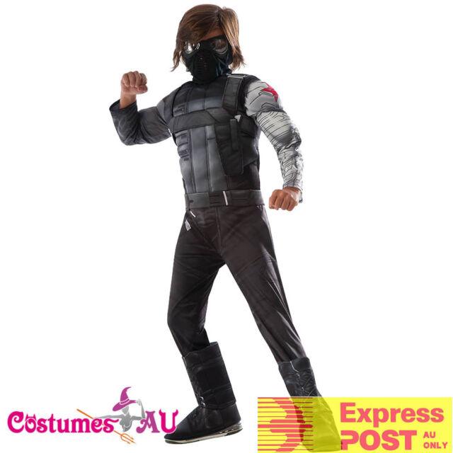 Captain America The Winter Soldier Reversible size L 12//14 Stealth//Retro Costume
