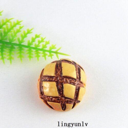 10pcs Resin Chocolate Bread Flatback Cabochons DIY Jewelry Crafts 51341