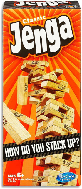 Jenga Game - Classic Strategy Games With Wooden Blocks - 1 Or More Players - -