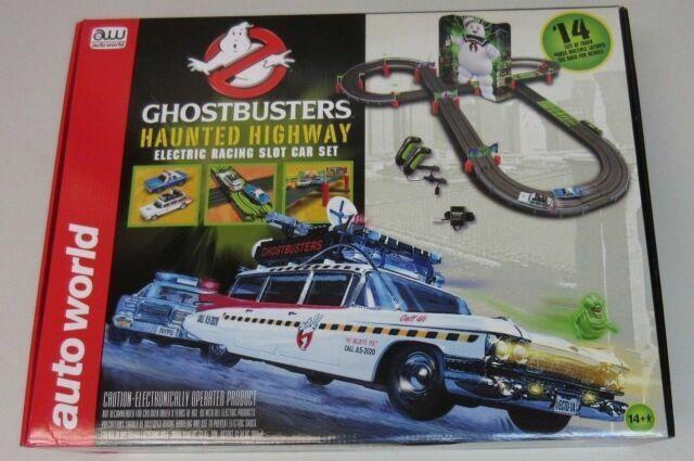 Ghostbusters Haunted Highway Rennbahn Slot Car Komplettset Auto World SRS260