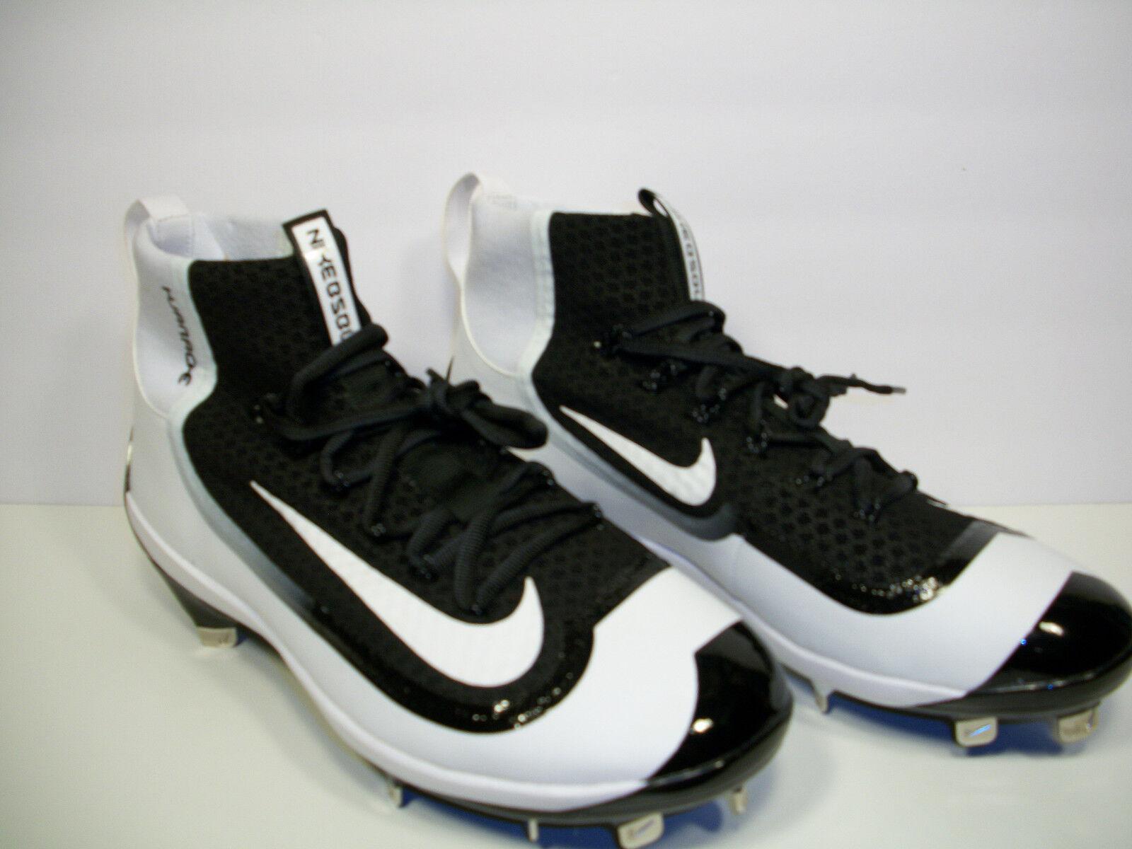 Nike Air huarache metal Elite Baseball cleats 2K mugre Elite metal 749359-010 BLK / WHT 12 2693d7