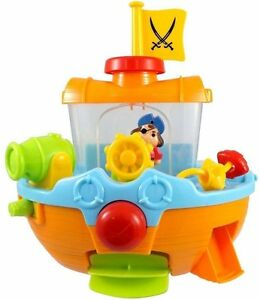 Bath-Pirate-Ship-Boat-Toy-For-Toddlers-Kids-With-Water-Cannon-amp-Scoop-8806