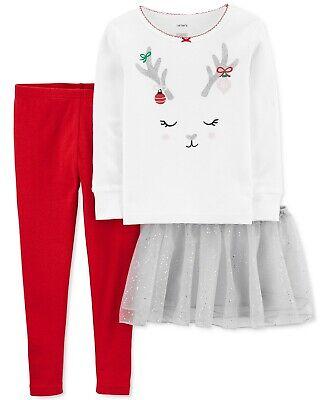 5T Carters Toddler Girls Up Owl Night Mint /& Gray 2 Piece Fleece Pajama Set