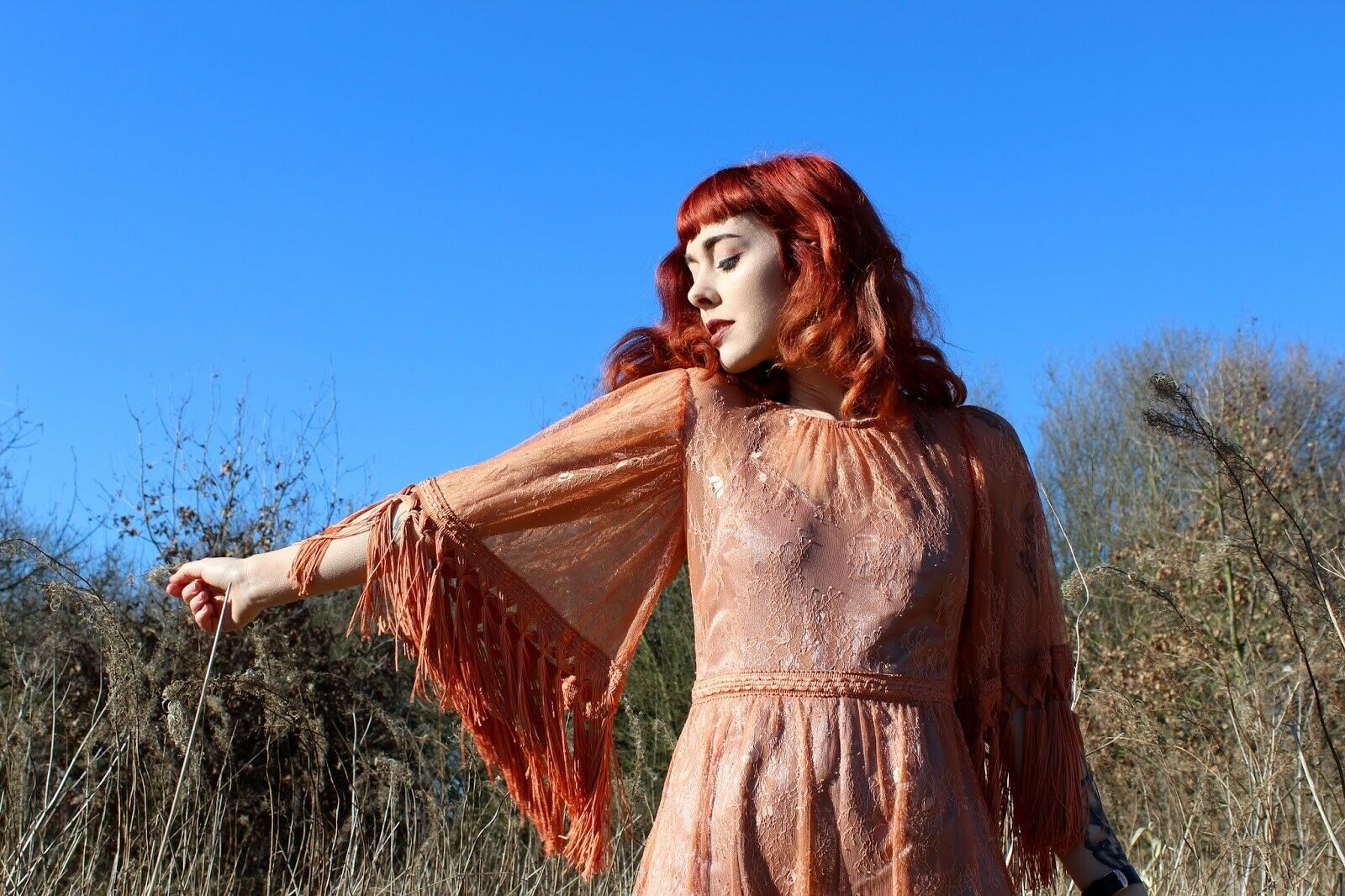 Cari's Closit Closit Closit Burnt Tassel Yasmine Playsuit Dress - Size  8 dc4a00