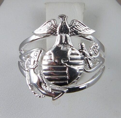 US MARINE CORPS USMC Licensed .925  SWEET HEART RING SIZE 10