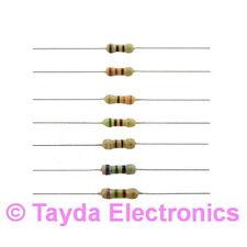 100 x 4M7 4.7M Ohms OHM 1/4W 5% Carbon Film Resistor - FREE SHIPPING