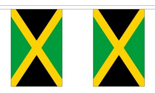 Jamaica Flag Bunting 3m 6m 9m Metre Length 10 20 30 Flags Polyester