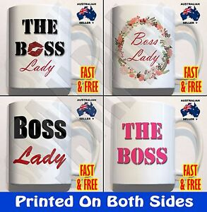 Image Is Loading The Boss Lady Coffee Mug Cup Funny Novelty