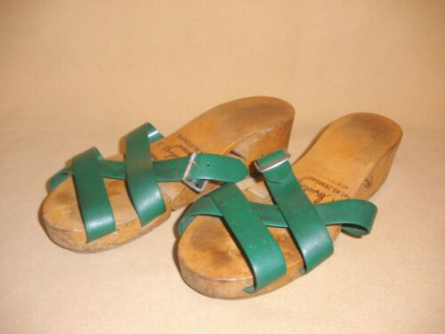 1950's Ladies Flexiclogs in Green Patent 2590648 N