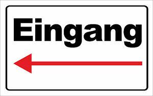 wetterfestes Schild PVC-Schild Eingang//Briefkasten um die Ecke nach Rechts