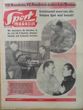 SPORT MAGAZIN KICKER 8 B - 19.12. 1959 Hans Rohde Frühwirth Bumbes Schmidt