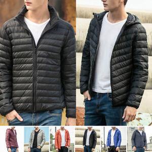 Mens-Winter-Ultralight-Hoody-Hooded-Collar-90Down-Jacket-Warm-Puffer-Coat-New