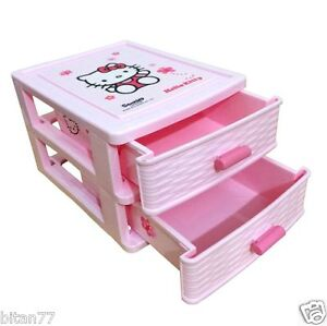 Image is loading Hello-Kitty-Drawers-Hello-Kitty-Small-Pink-Plastic-  sc 1 st  eBay & Hello Kitty Drawers Hello Kitty Small Pink Plastic Drawers Storage ...