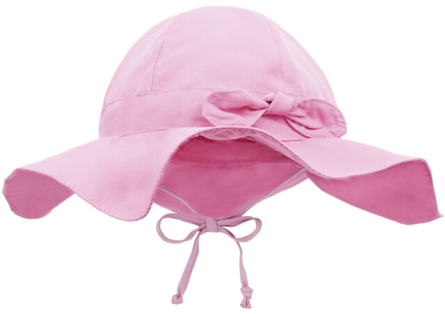 Baby Sun Protection Hat Unisex Infant Solid Wide Brim UPF 50