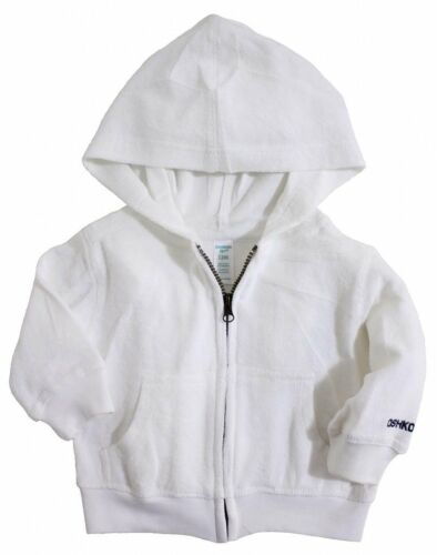 OshKosh B/'gosh White Terry Cloth Hoodie Jacket 3//6MO 18MO 4T NEW