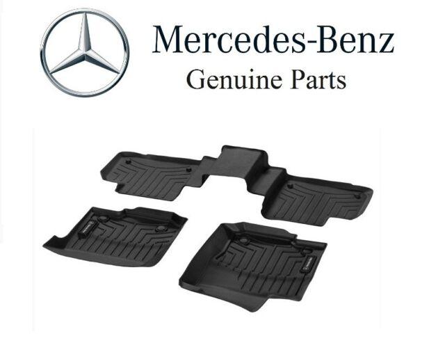 Set of 4 X164 Mercedes-Benz OEM All Weather Floor Mats 2007 to 2012 GL-Class