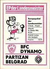 EC I 83/84 BFC Dynamo Berlin - Partizan Belgrad, 19.10.1983