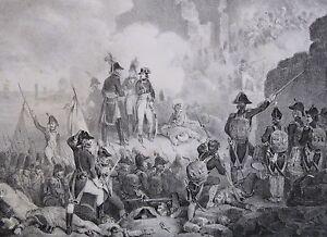 Lithographie-de-Madou-Napoleon-Siege-de-St-Jean-d-039-Acre