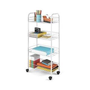 metallregal k chenwagen beistellwagen k chenrollwagen b cherregal auf rollen neu ebay. Black Bedroom Furniture Sets. Home Design Ideas