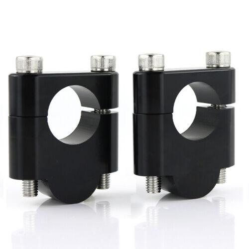For Kawasaki ZRX1200R Z300 CNC Alloy Handlebar Bar Mount Clamp Riser Adapters