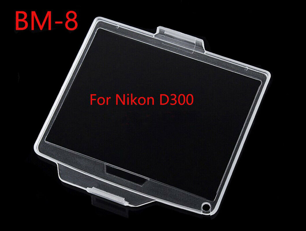 BM-8 Hard Clear Plastic Rear LCD Monitor Screen Cover Protector For Nikon D300