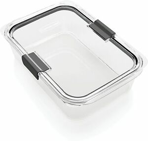 Rubbermaid Brilliance Food Storage Container, Large, 9.6 Cup, Clear 1991158 | eBay