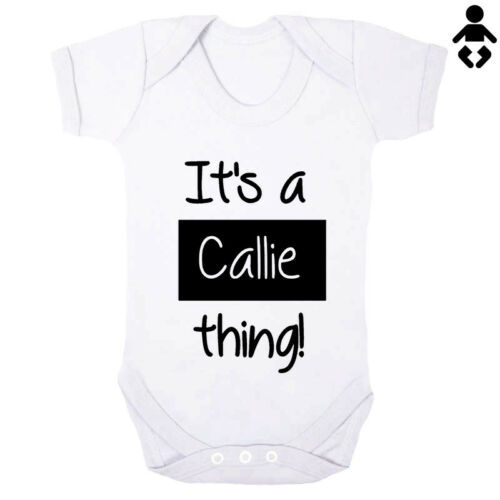 Baby name THING personalised Baby grow BABY VEST Bodysuit gift IT/'S A ...