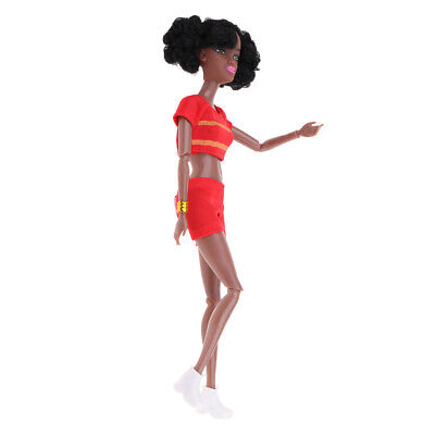 African-American Dolls Model 12 Joints Moveable BJD Dolls With Clothes 31cm