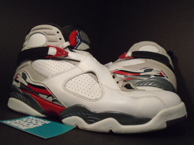 Nike Air Jordan VIII 8 Retro WHITE BLACK TRUE RED BUGS BUNNY 305381-103 Sz 11.5