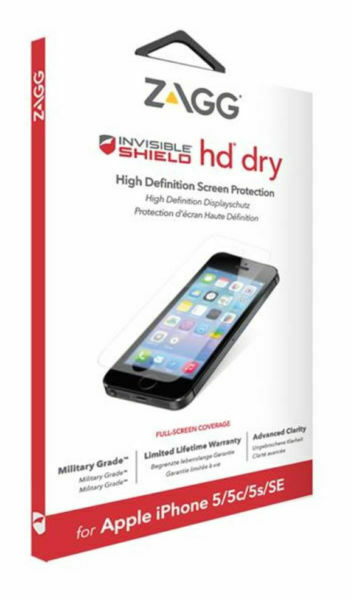 ZAGG InvisibleSHIELD iPhone 5S 5 5C SE HD Dry Screen Protector Guard Clear