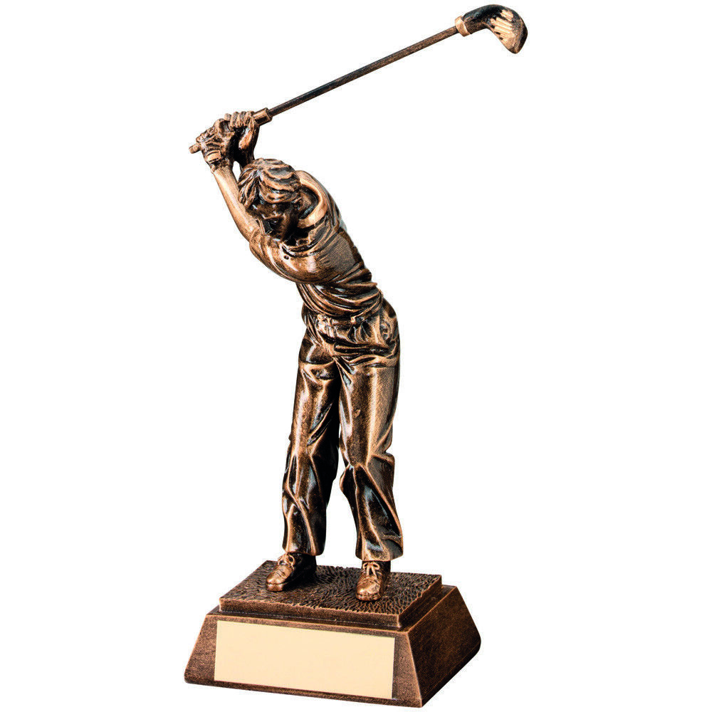 Taking-a-shot SWING GOLF Trofeo Golfista Palo PREMIO ORO PREMIO Palo - Grabado Gratis db5375
