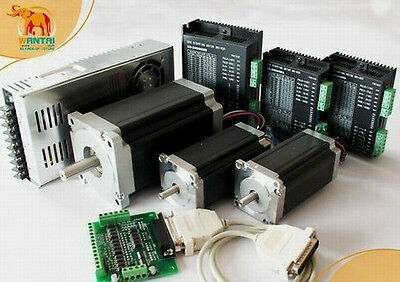 3 Axis CNC controller kit 425oz &1600 oz-in Single shaft Step Motor,engrave