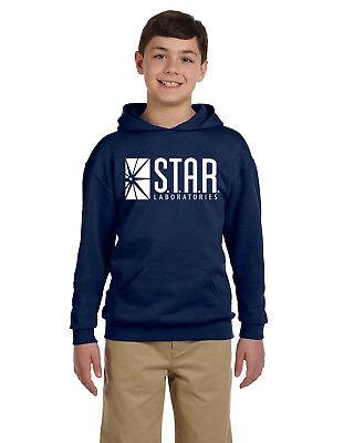 New Way 859 Youth Hoodie Star Laboratories Labs Comic Hero