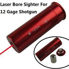 12 Gage GA Laser Bore Sight Boresighter Bore Sight Shot Gun, Aluminum/Red Finish