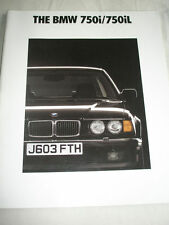BMW 750i/750iL brochure 1991 Ed 2 large format English text