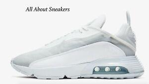 Nike-Air-Max-2090-034-Blanco-gris-lobo-Pure-034-Hombre-Zapatillas-Limited-Stock-Todos-Los-Tamanos