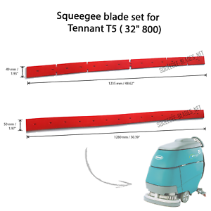 """Squeegee set for Tennant T5 FREE WORLDWIDE SHIPPING! 32/"""" // 800"""