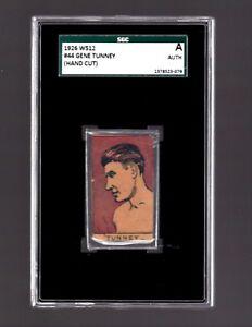 1926  W512  Gene Tunney (Hand Cut) - SGC Authentic - 079