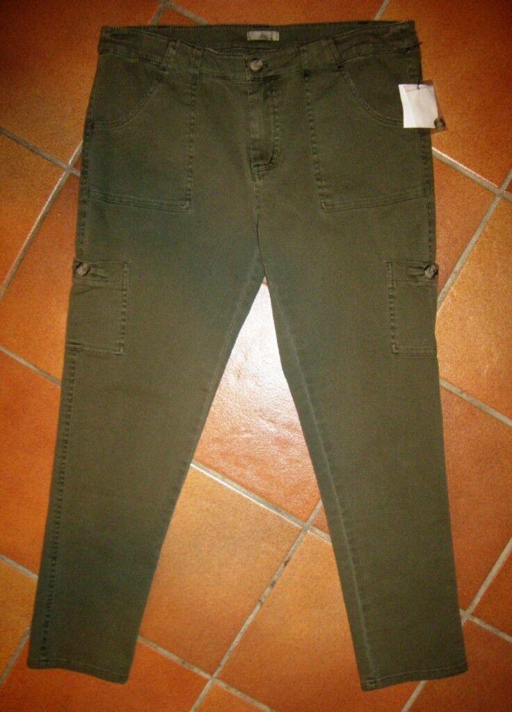 Nwt Joie Olive Abgeschnitten Stretch Baumwolle Cargohose 12