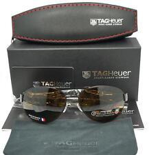 New Men's Tag Heuer Aviator Chocolat/Brun Fonce Noir France Sunglasses $499.00