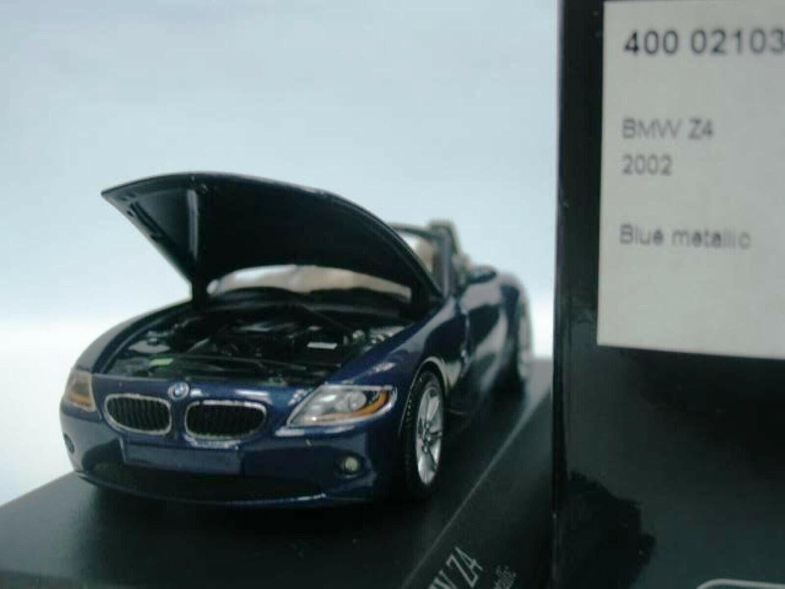 Wow extrêmement Rare BMW Z4 2.2 Roadster E85 2002 Bleu 1 43 Minichamps-Z8 M3 GTR