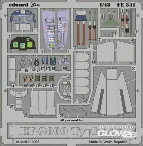 Eduard Accessories fe341 ätzsätze ef-2000 Typhoon Single Seater ITALERI KIT