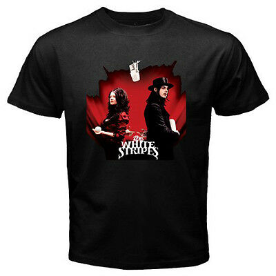 The White Stripes *Get Behind Me Satan Pop Rock Men/'s Black T-Shirt Size S-3XL